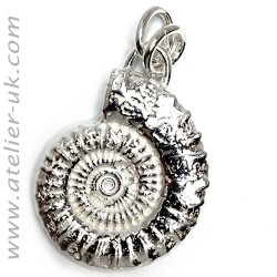 Large sterling silver ammonite charm pendant on atelier bespoke fine large sterling silver ammonite charm pendant aloadofball Choice Image